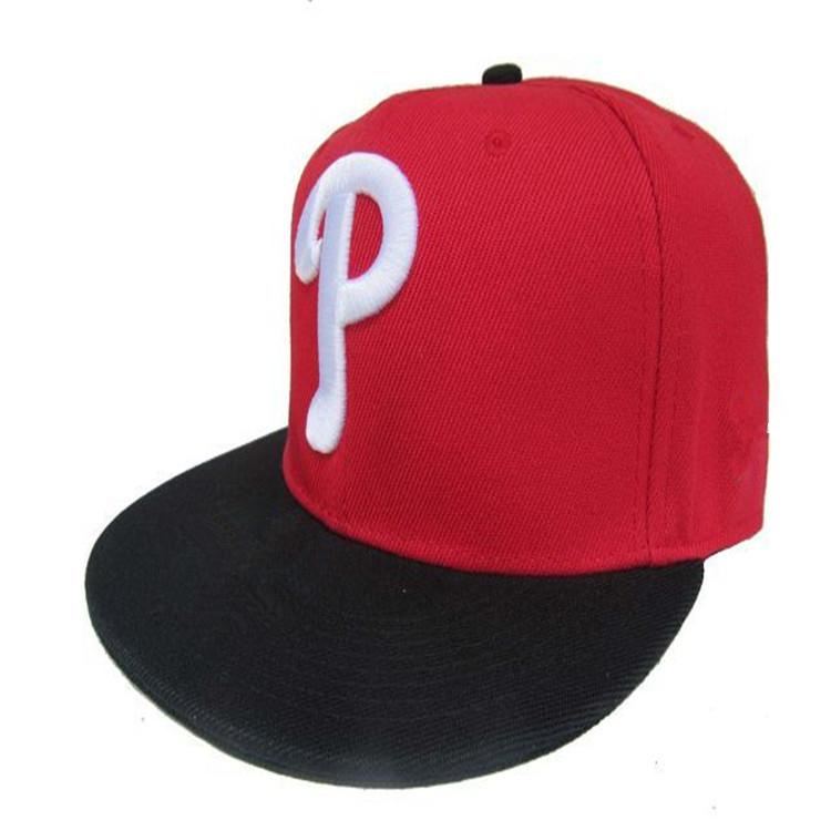 Pop Classic Team Ball Phillies Fitted Caps P Letter Baseball Cap  Embroidered Team P Letter Size Flat Brim Hat Phillies Baseball Cap Size Hats  And Caps Skull ... b29d9c86df0d