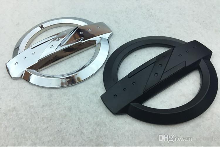 For NISSAN 3D Metal High Quality Silver Black Zinc Alloy Z Symbol Car Front Rear Body Emblem Sticker Fit 350Z 370Z Fairlady Z33 Z34