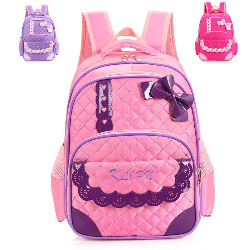 2016 Cute Bow Princess Girls School Bags Primary School Portfolio ...