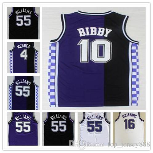 70efcf0ac03 ... Throwback4 Chris Webber Kings Jersey Mike Bibby 16 Peja Stojakovic 55  Jason Williams Retro Basketball Jerseys ...
