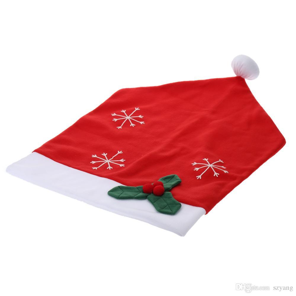 10 Sztuk / partia Wysokiej Jakości Flanel Christmas Christmas Okładki Święty Mikołaj Dekoracji Xmas Nowy Rok Home Party Decor Zmywalny Natale