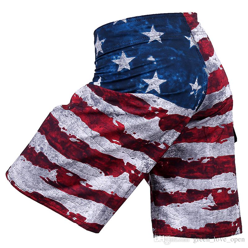 6f1ca9df36 2019 Mens American Flag Shorts Surf Quick Dry Bermuda Masculina Beach Men  Swimsuit Boardshorts Bathing Suit Man Short Pants From Green_love_open, ...