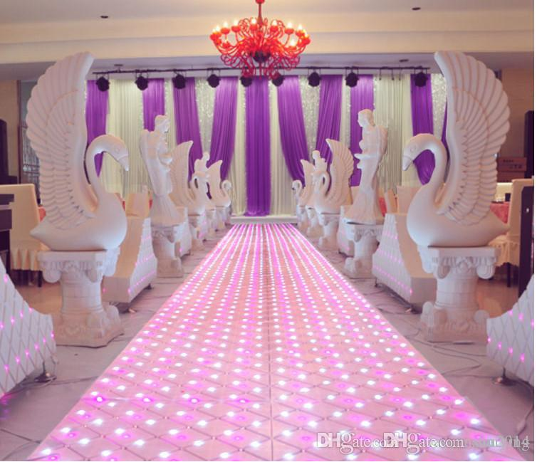 60cm 60 Cm Shiny Crystal Led Wedding Mirror Carpet Aisle Runner T