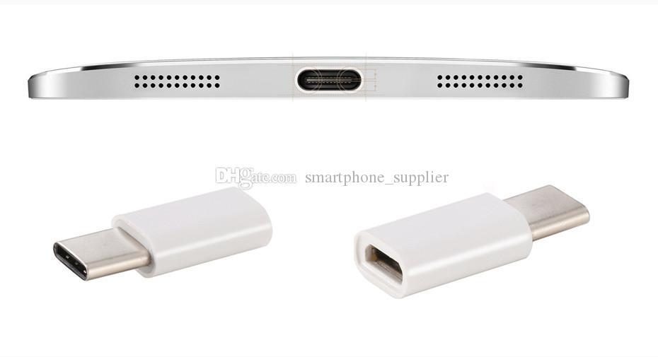 USB 3.1 Tipo C Macho a Micro USB 5 pines Hembra Micro Adaptador de Cargador de Datos usb para Nueva Macbook 12 caliente