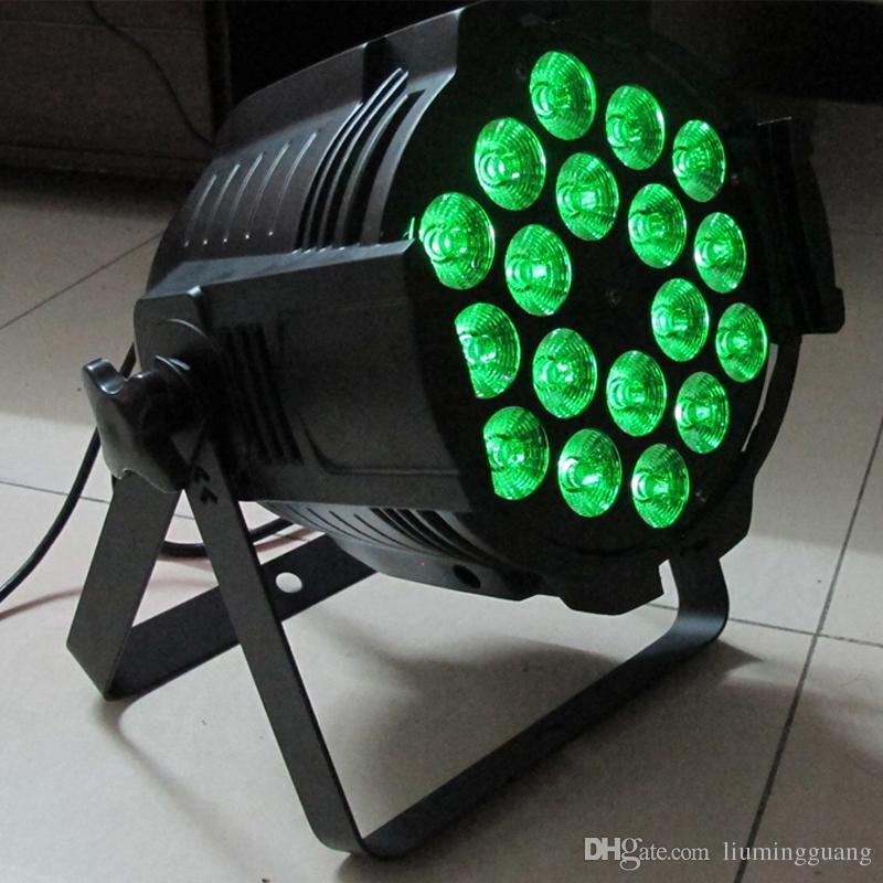 Par64 18x18w LED Light RGBWA+UV 6in1 DMX512 LED Par Cans