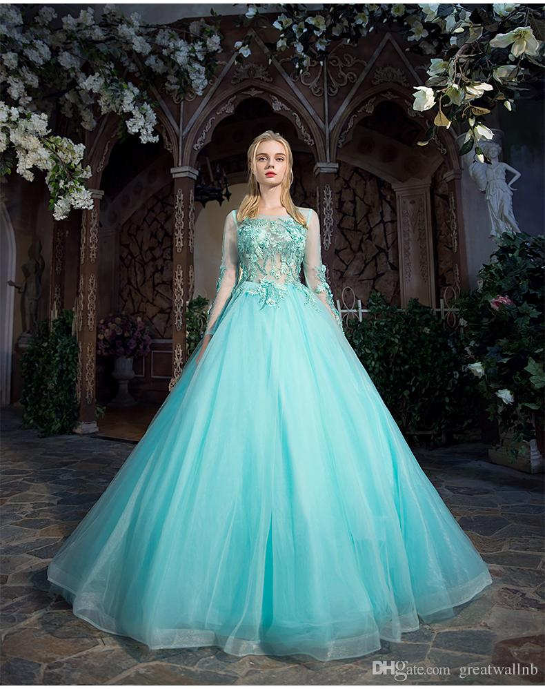 Light Water Blue Luxury Medieval Dress Ball Gown Siss Princess ...