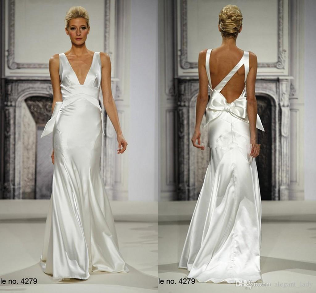 Pnina Tornai 2018 Silk Chiffon Greek Goddess Beach Wedding Dress