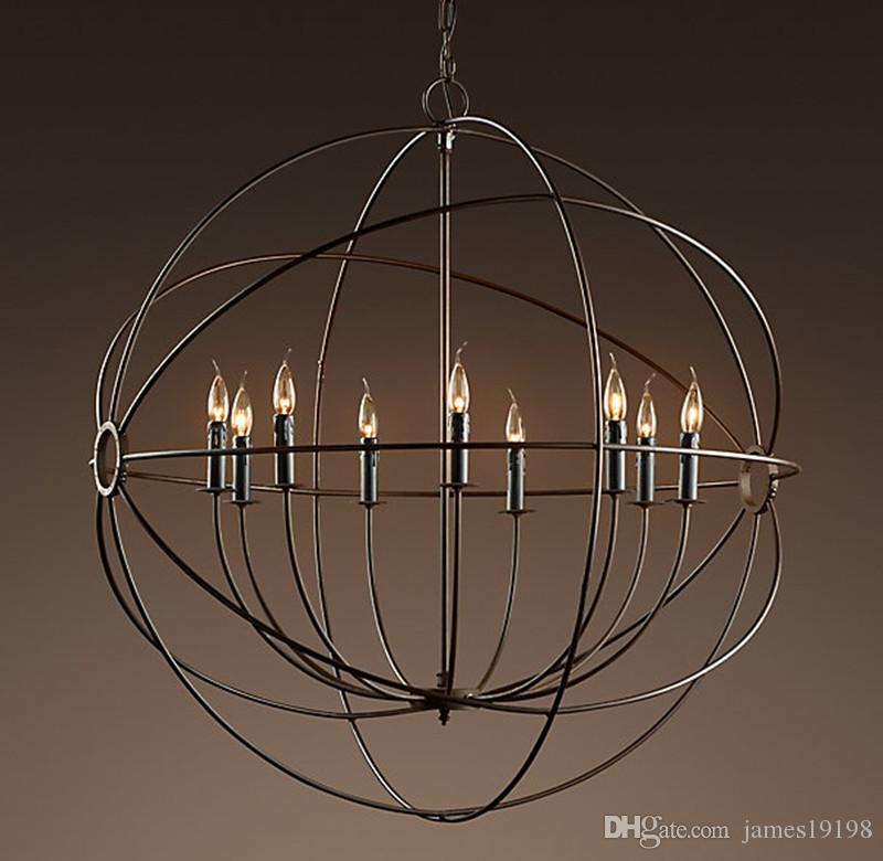Focaults Orb Pendant Lamp Restoration Hardware Vintage Hanging Lamp Suspension Light For Living Room Dinning Room Home Decor