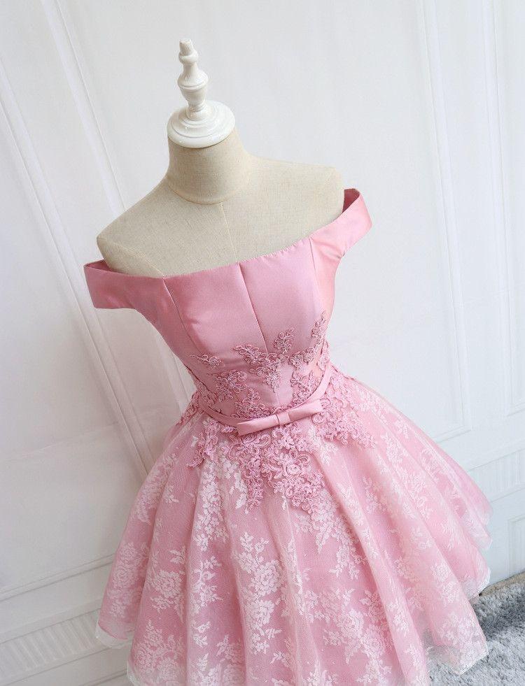 Dusty Pink Prom Dresses trägerlosen knielangen Satin mit Spitze Tulle Applique Party Kleid Lace-up / Zipper Zurück Cocktailkleider Günstige