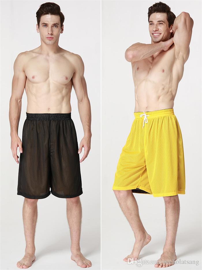 8 Stilleri 2016 Yaz Sıcak Satış Yüksek Kalite Geri Dönüşümlü Rahat Koşu Şort Erkekler Çift Yönlü Nefes Spor Basketbol Şort