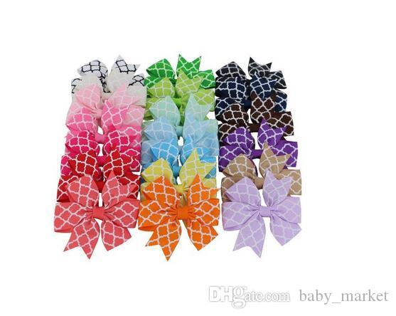 15% off! New / 3 Inch Boutique Grosgrain Ribbon Hair Bow Baby Girl Hair clip Kids Hairpin Headband hairband barrettes Hair Accessories