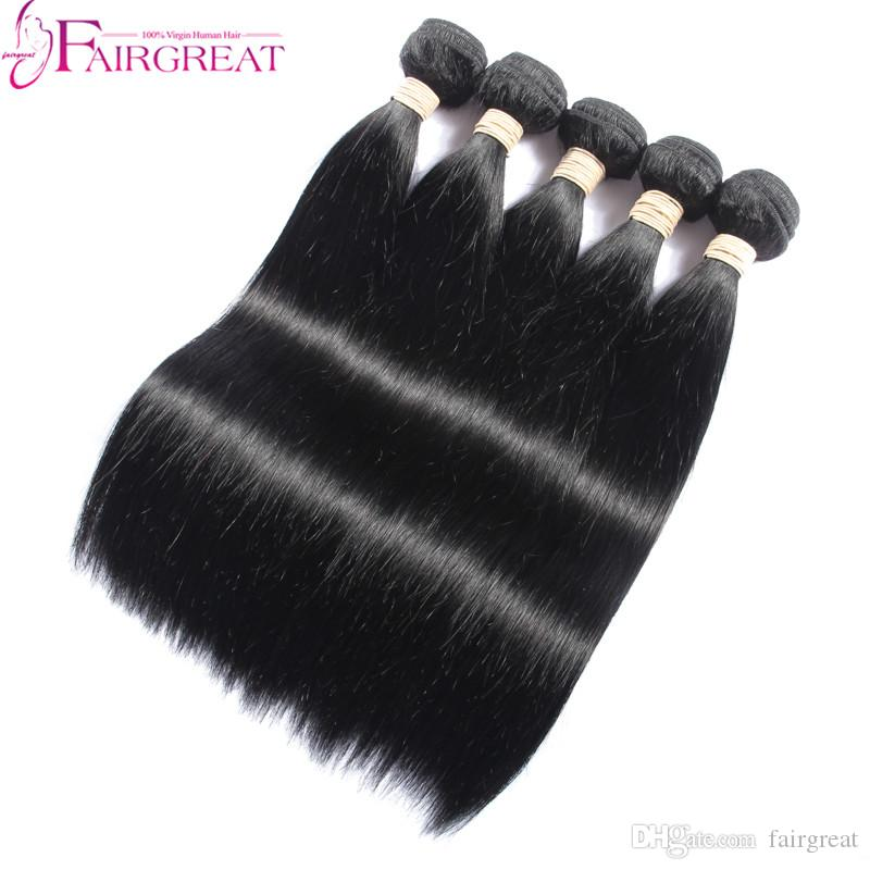 Straight Hair Products Grade Peruvian Human Hair Extension 100
