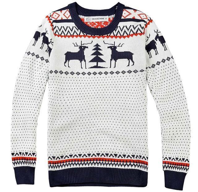 03a87bb946a Acheter Hiver Nouveau Mode Homme Marque Deer À Tricoter De Noël Chandail Pull  Hommes À Manches Longues Slim Fit Chandails O Cou Jumper Pull Homme De   44.0 ...