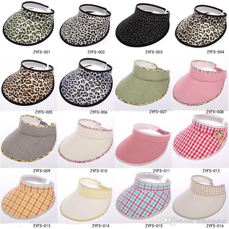 패션 인쇄 썬 바이저 모자 UV 여름 모자 도매 / 무료 배송