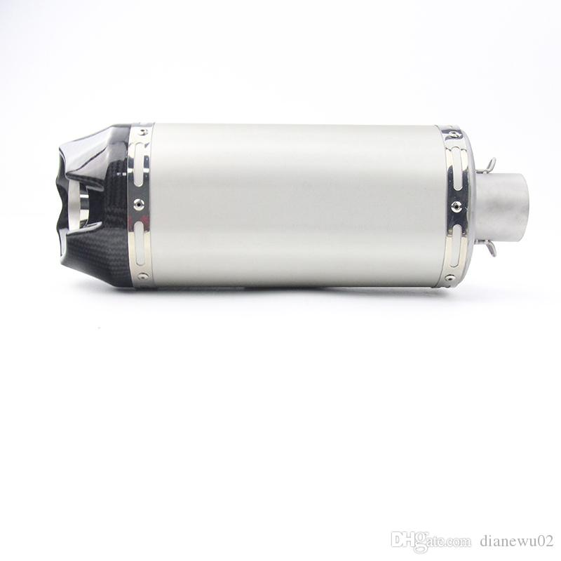 Length 365 mm Universal Motorcycle Exhaust Muffler Pipe Silencer With Removable DB Killer Diameter 51 mm