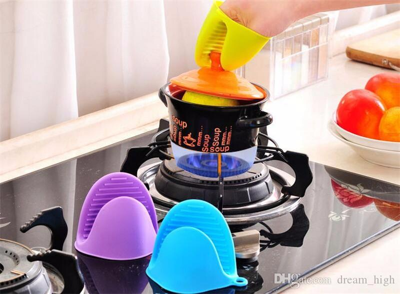 Silicone hand clip Pliable Proximity Heat Insulation Heatproof Silicone Cooking Gloves Oven Mitts Protect Yourselves