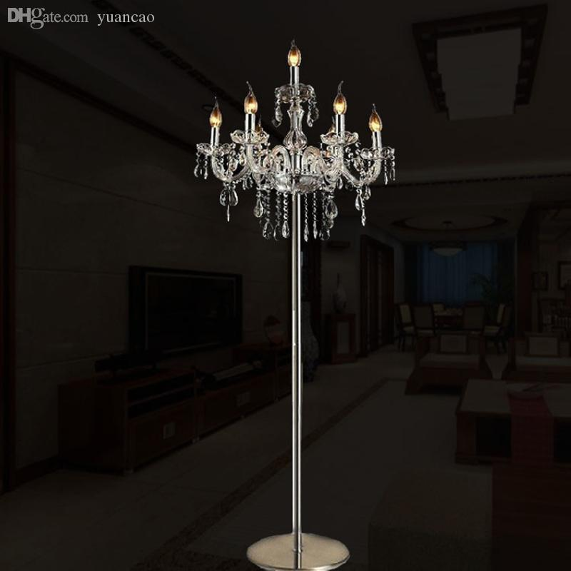 2018 Wholesale Modern Floor Lamps For Living Room Luxury Fashion Brief  Romantic Bedside K9 Crystal Floor Lamp Standing Lamp For Bedroom From  Yuancao, ...