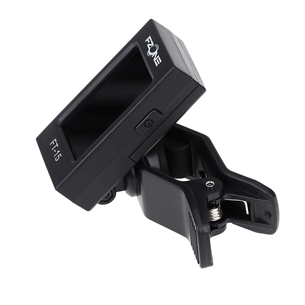 Fzone FT-15 Clip-on Electric Tuner for Guitar Chromatic Bass Violin Ukulele High Quality Universal Portable Guitar Tuner