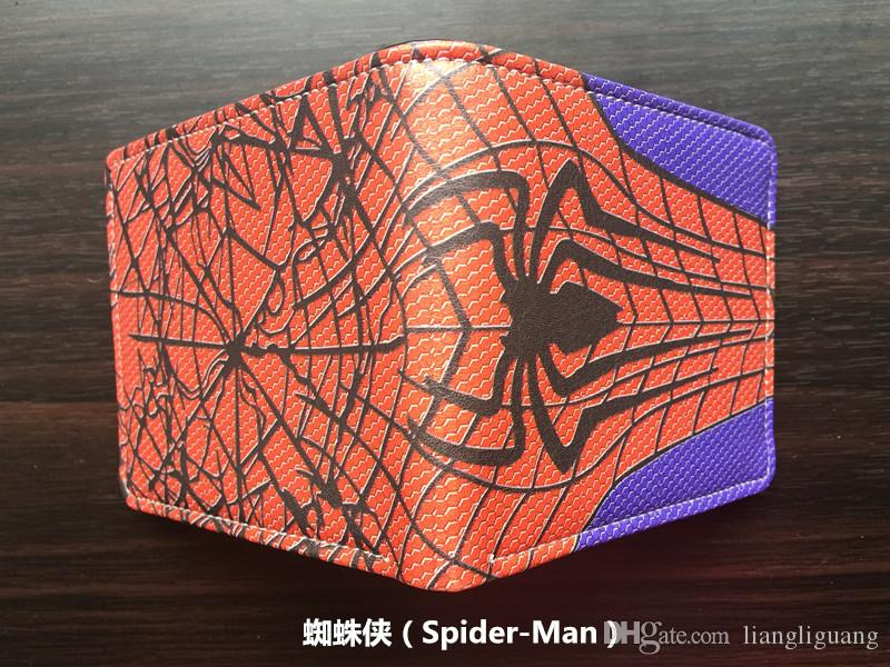 Marvel DC Superhero Anime Wallet The Avengers Hero Spider-Man Wallet Cute Teenager Boy's Spider Spiderman Wallet & Purse Leather
