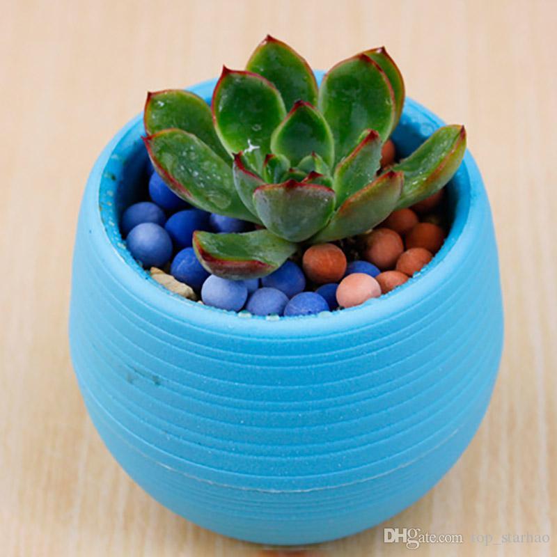 Colorful Mini Flower Pots Planting Pot Gardening Plastic Pots Plant Flowerpot Office Decoration Garden Supplies 10*10cm Free DHL XL-335
