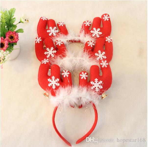 Christmas Hair Accessories Antlers Headband With Bells Decorations Party Head Hoop Headwear Gifts