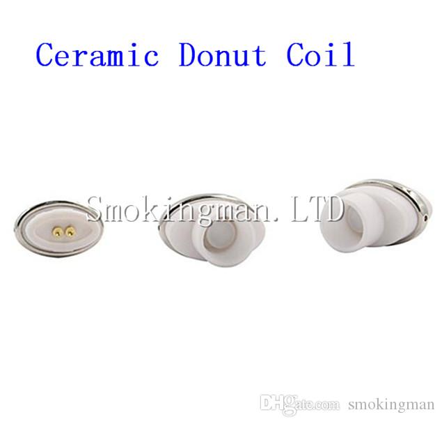 Full ceramic dual ceramic donut atomizer coil for elips micro gpen cloud pen ceramic 0.5-0.7ohm for Box Mod VS Dual quartz Coils