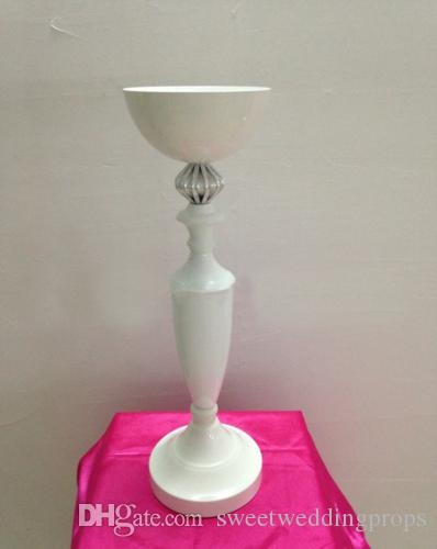 """Tall 50cm 19.7"""" White Wedding flower vase Wedding decoration Table Centerpiece Party Props"""