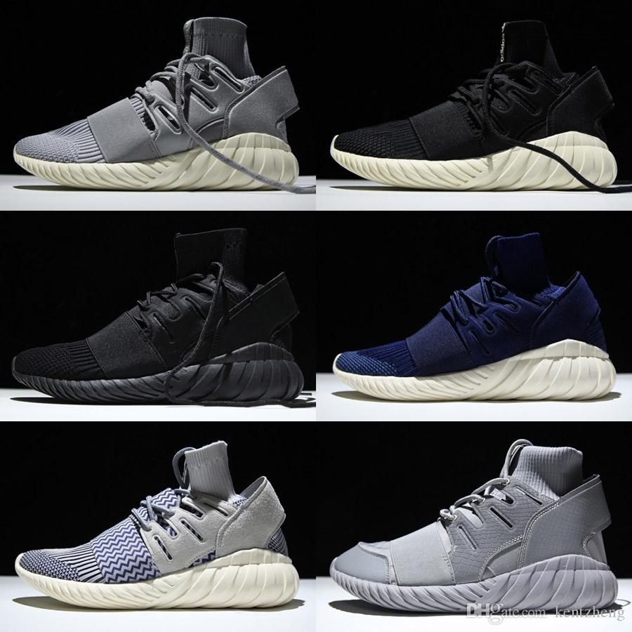 Unisex PK Tubular Doom Primeknit Tonal Running Shoes Men Triple Sock Shoes For Women Black Grey Freeshipping Size 36-45 sale 2014 new clearance get to buy footlocker agohrRhp