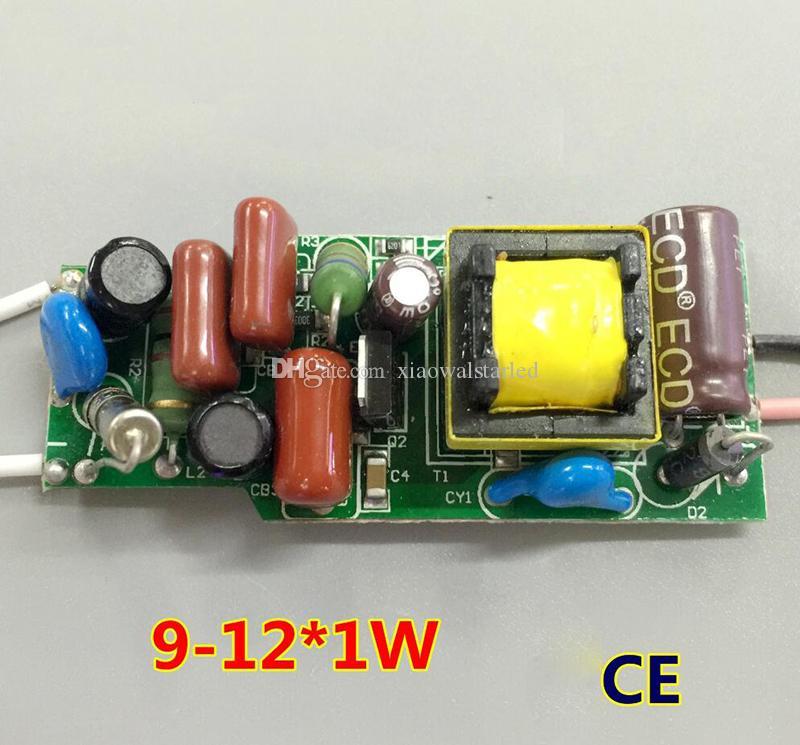 AC220V 9-12 x1W 9w 10w 12w CE EMC 승인 트라이 액 디 밍이 가능한 LED 드라이버 램프 전원 공급 장치 조명 변압기 전원 공급 장치를 절연