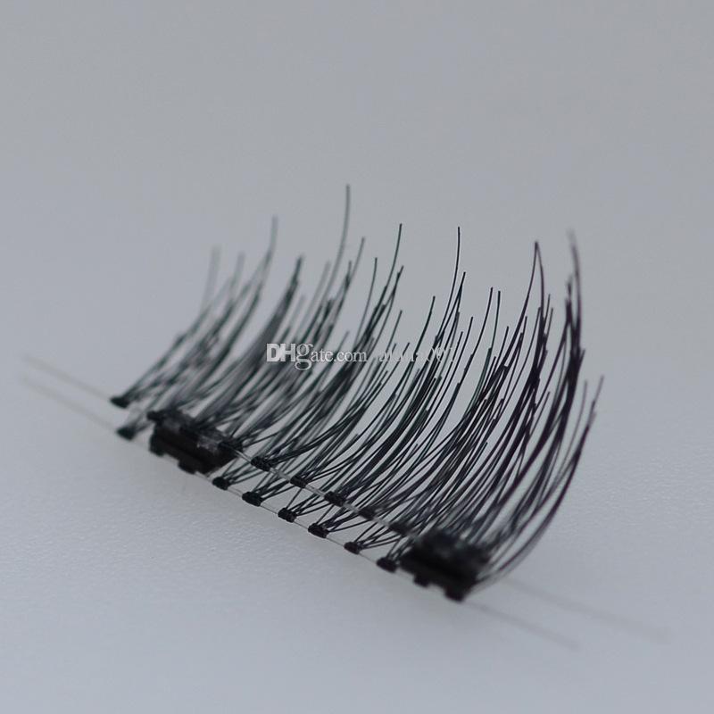 Природные Толстые 3D магнит Ложные Ресницы всасывания камень Тушь Магнитная застежка без клея Трехмерное Многослойная ресниц