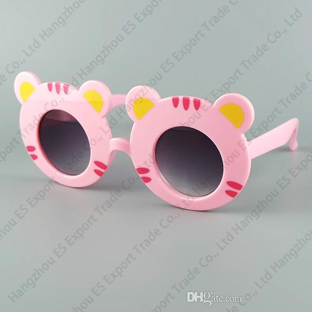 Zoo-Tierform-Eyewear-Tiger scherzt Sonnenbrille nette und reizende Baby-Sonnenbrille UV400 6 Farben