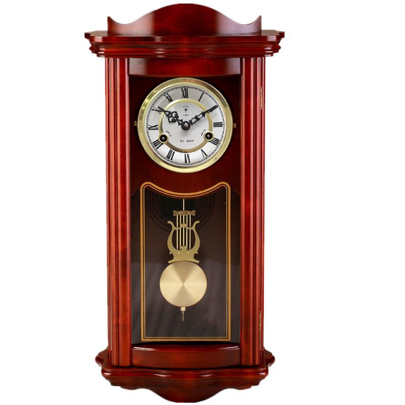Solid Wood Modern Pendulum Clock Wall Clock Antique Clock
