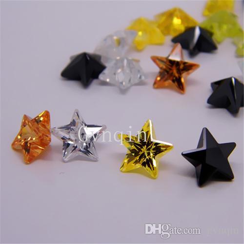 Çin Wuzhou taşlar perido Kübik zirkon Makine Kes gevşek cz boncuk perido / ücretsiz nakliye yıldızı