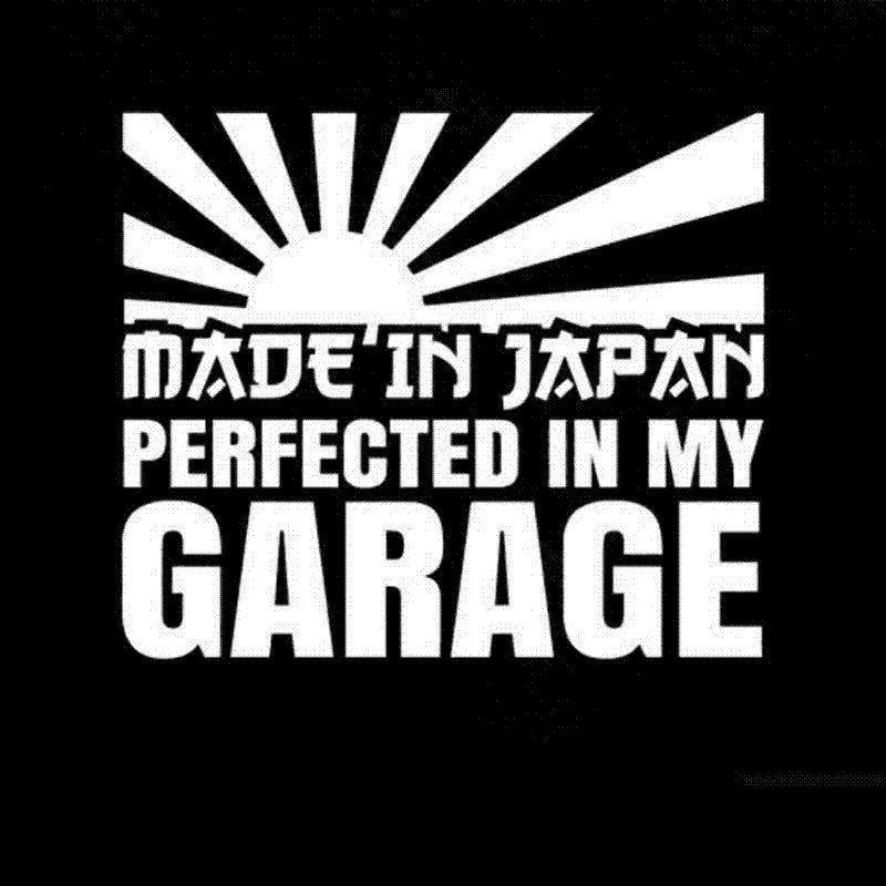 Cmcm Made In Japan Perfected In My Garage Decal Jdm - Where to get vinyl stickers made