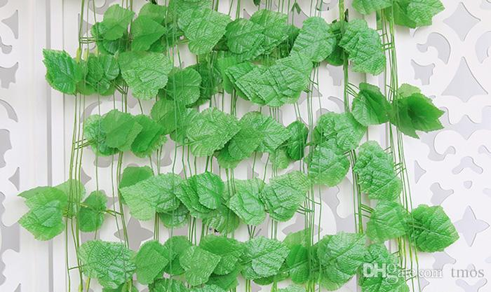 Festive And Party Supplies 240CM/20 Leaves Christmas Garland Plants Grape Artificial Vine Leaf Fake Foliage Flowers IVY Hanging Rattan Decor