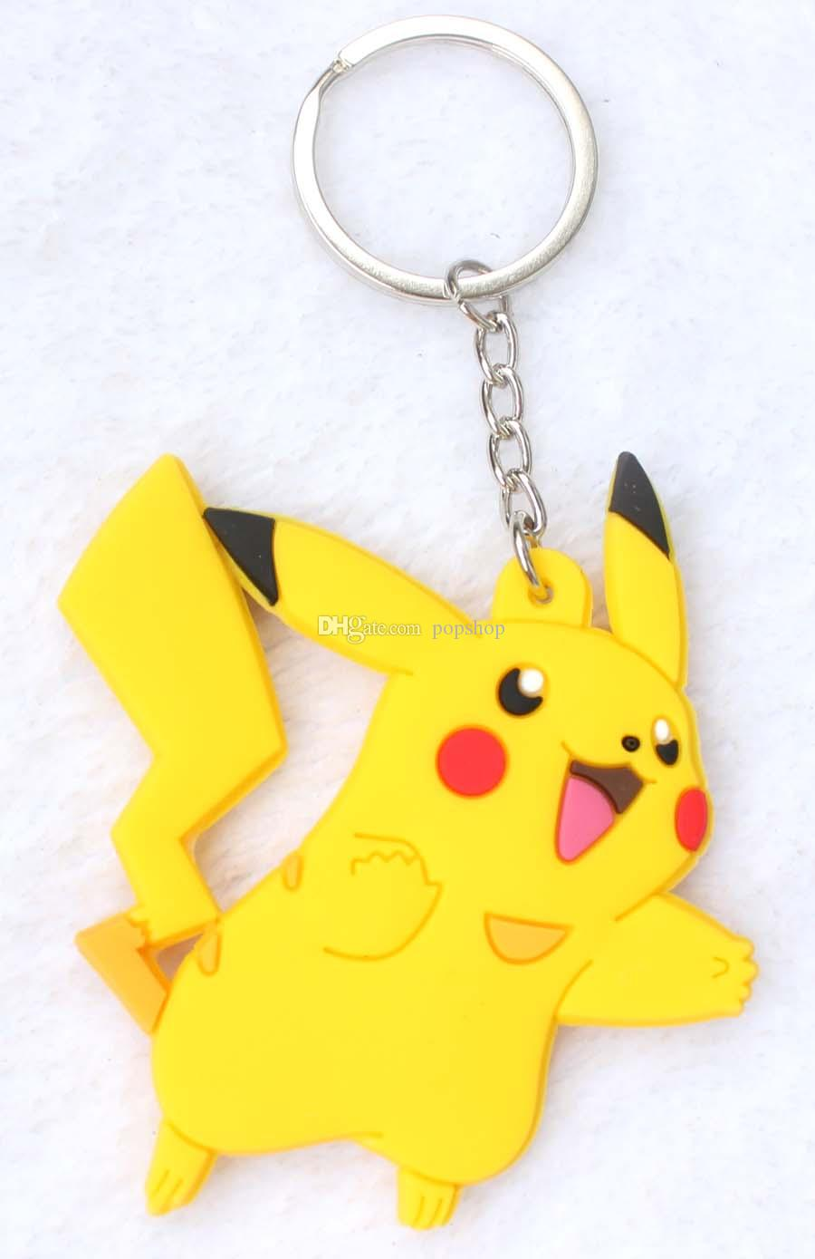 Anime figures Mixed Pocket Monsters Pikachu Keychains Toys Key Chains Pendants Girls Toys Christmas Gifts Anime Cartoon