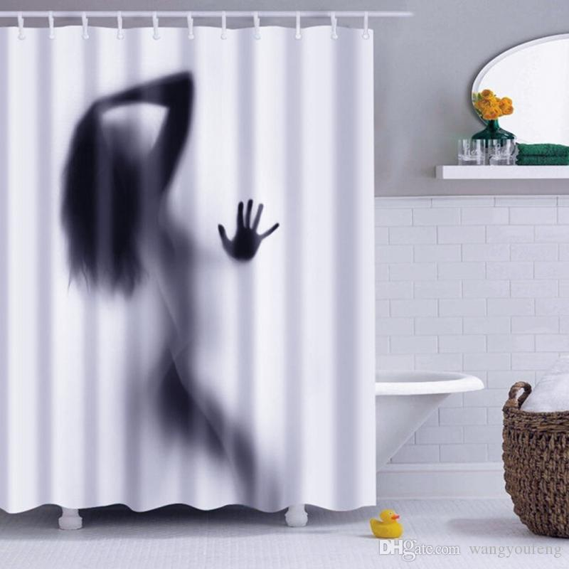 Fashion Creative Sexy Girl And Women Shadow Silhouette Bath Shower