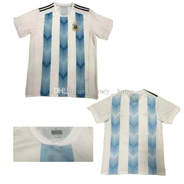 2019 2018 World Cup Argentina Home Soccer Jersey 17 18 Top Thai Quality  Argentina  10 MESSI Soccer Shirt Home Blue White Football Shirts From Jersey   home 3a4a6d83f