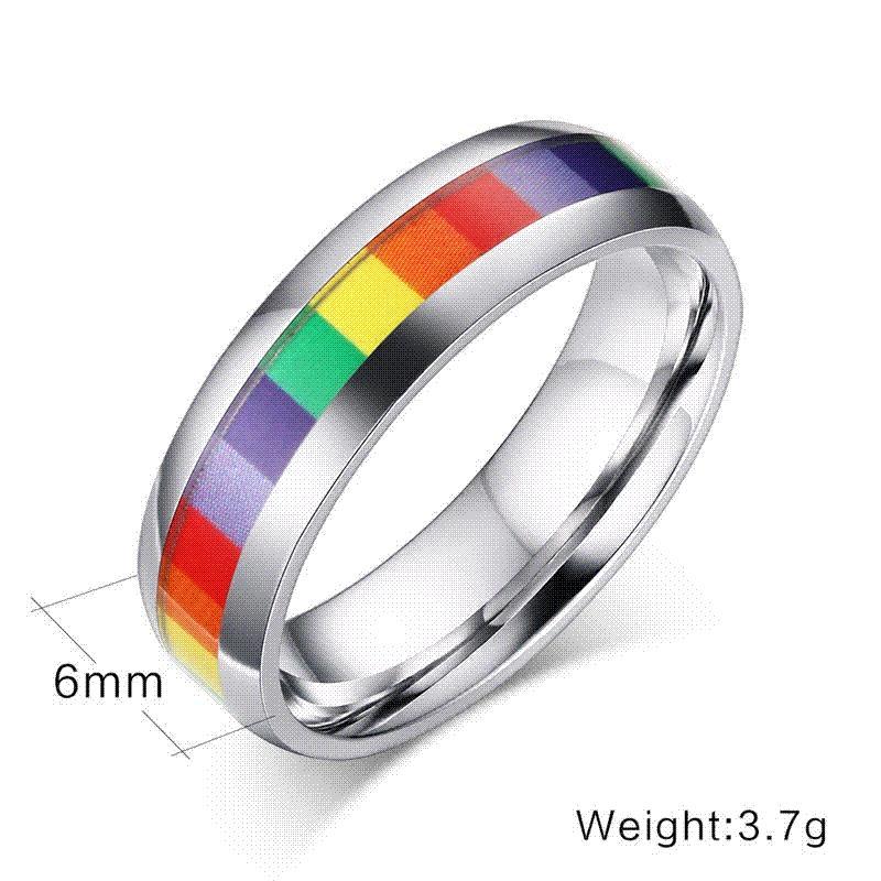Party Jewelry Wholesale Lesbian Rings Jewelry Fashion Women Rainbow