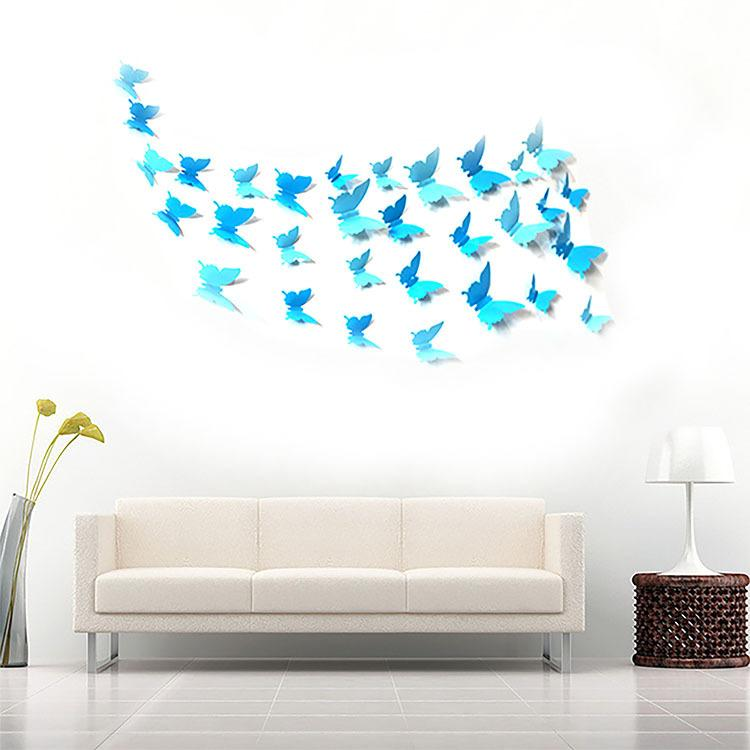 Wall Stick Plastic Film Manufacturer Wholesale 3 D Butterfly Wall Wall  Stickers Can Remove The Wall Stickers Indoor Background Wall Stickers  Decals For The ...