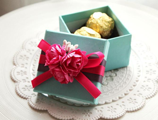 Flowers Wedding Favor Boxes Candy Boxes Wedding Gift Boxes Chocolate Box Paper Boxes Baby Shower Giftbox