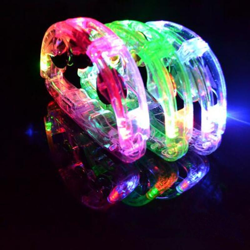 2017 LED Flashing Tambourine Rattle Hand Bell Kids Light Up Luminous Toy KTV Bar Decoration Glow Party Supplies Halloween