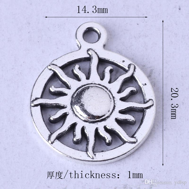 SUN ring Pendant antique Silver/bronze pendant fit Necklace DIY Jewelry Zinc alloy 60z