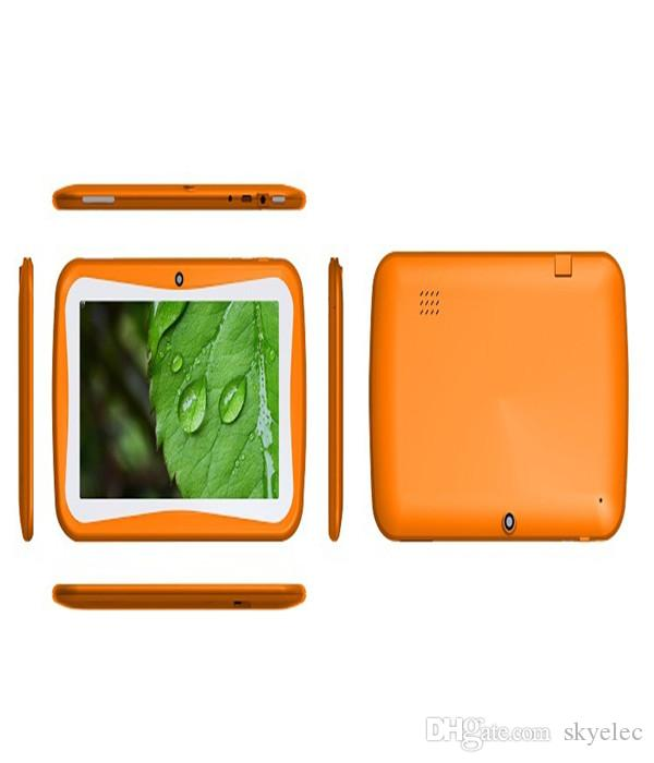 Kids Cartoon Gifts Tablet PC RK3126 Quad Core Educational Apps Kids Mode Android 4 4 Dual Cam Wifi 7inch IPS 1024 600 Capacitive Screen Sd