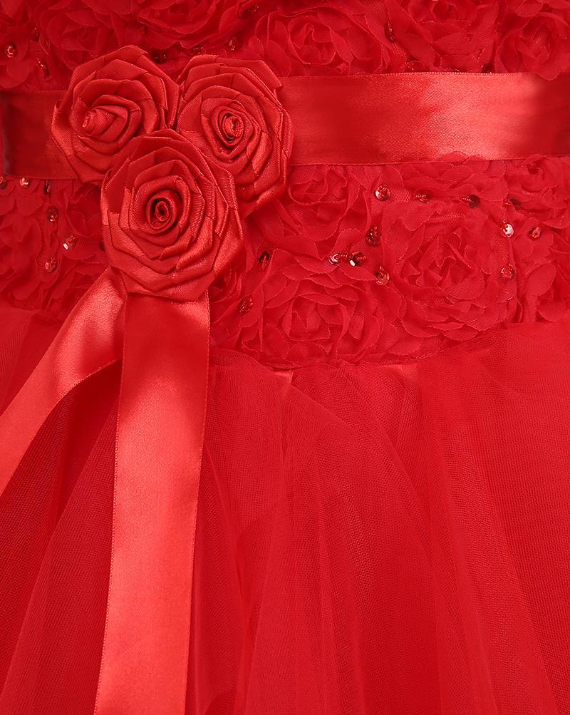 Без Бретелек Кружева Тюль Высокий Низкий Пляж Свадебное Платье С Ручной Цветок 2016 Развертки Поезд Свадебные Платья Зашнуровать