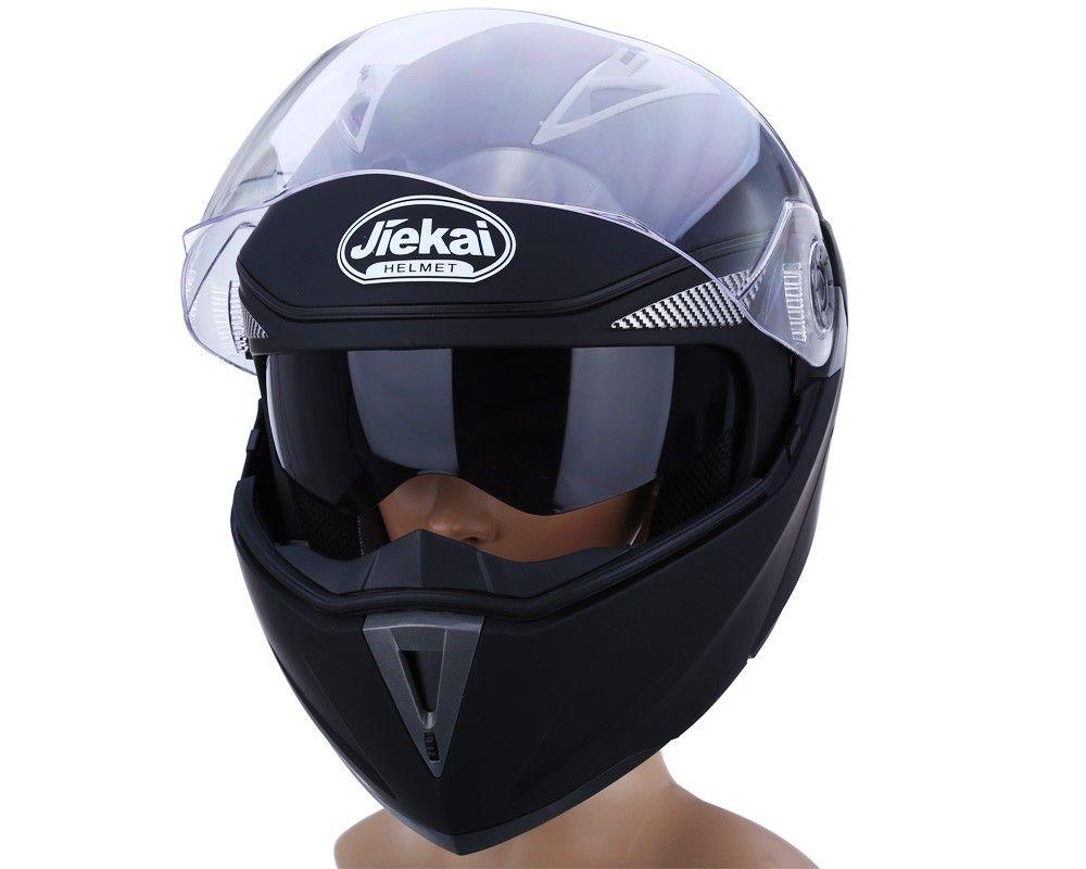 Новый мотоцикл шлем анфас двойной козырек уличный велосипед с прозрачным экраном с ABS материал с горячим давлением губки лайнера