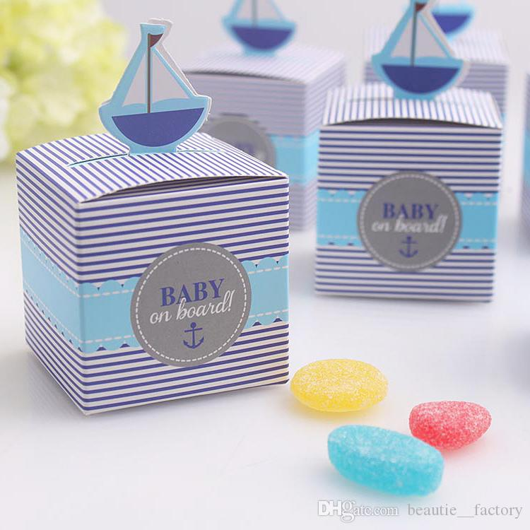 Baby On Board Candy Box Baby Shower Boy Birthday Party Chocolate Box Unique  And Beautiful Design Paper Favor Boxes Purple Wedding Favor Boxes From ...