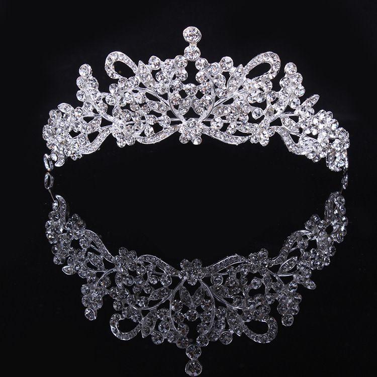Nova Moda Limpar Strass Cristais Flor Coroa Tiara Para O Casamento Das Mulheres De Noiva Acessórios Para Jóias de Cabelo Melhor