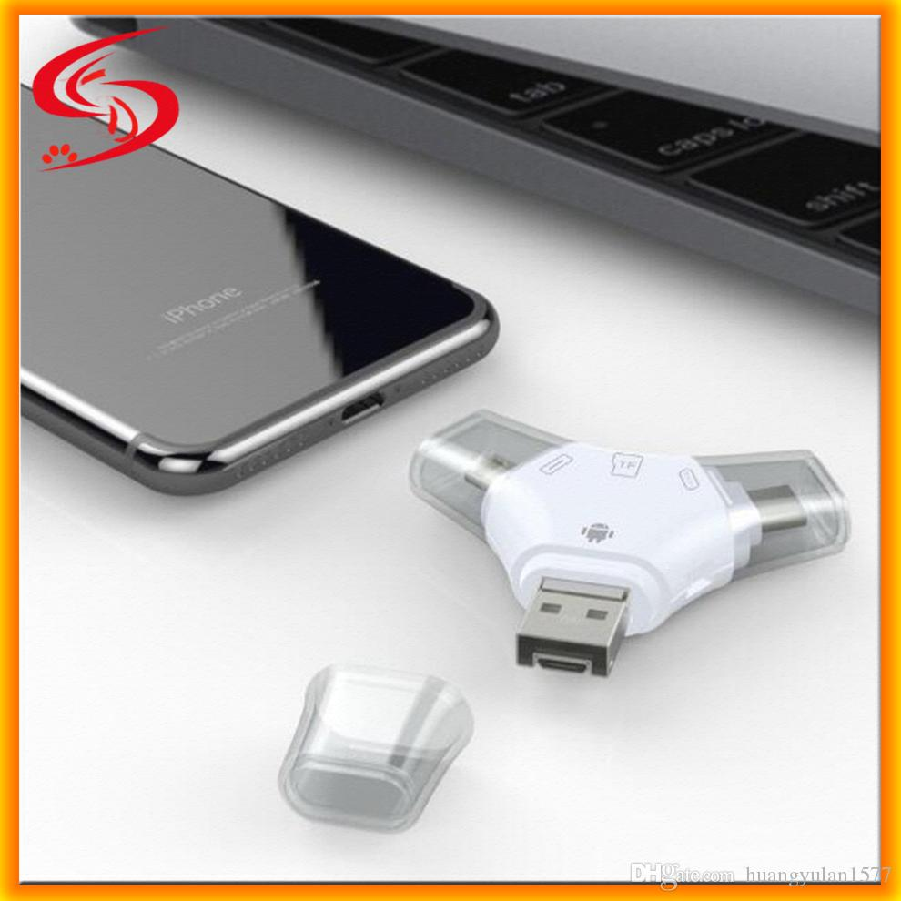 2018 4 In 1 Iflash Drive Hd Usb 30 Micro Sd Sdhc Tf Otg Card Reader Smart Connection Kit For Iphone 5s 6 6s Plus Ipad Ios Device All Android Cellphone From Huangyulan1577