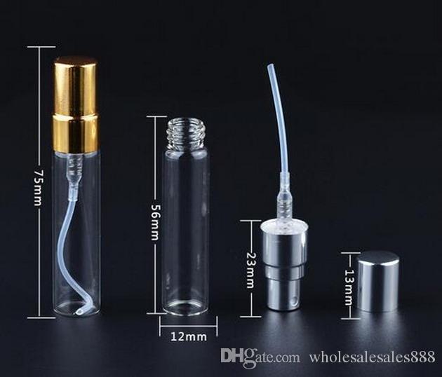 Fabrika Fiyatı 5ml Atomizer İnce Mist Cam şişe DHL Ücretsiz Nakliye By Doldurulabilir Parfüm Parfüm Boş Kokusu Şişe / Sprey